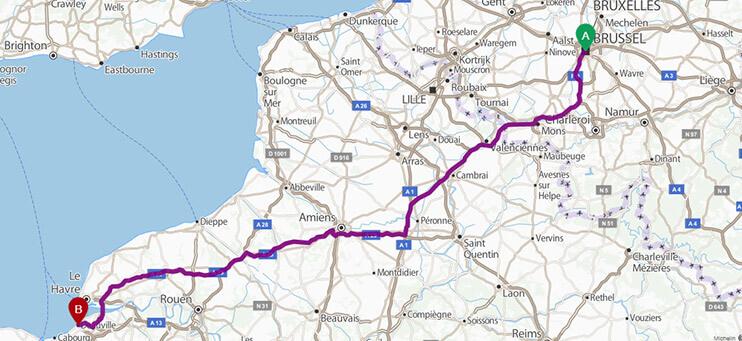 Itinéraire Le Royal